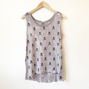 Soulcycle Gray Skull Tank Size Medium